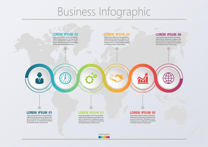 presentation business road map infographic mall vektor