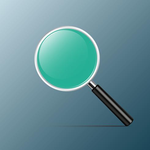 Förstoringsglas med grönt glas för dig design, Vektorillustration vektor