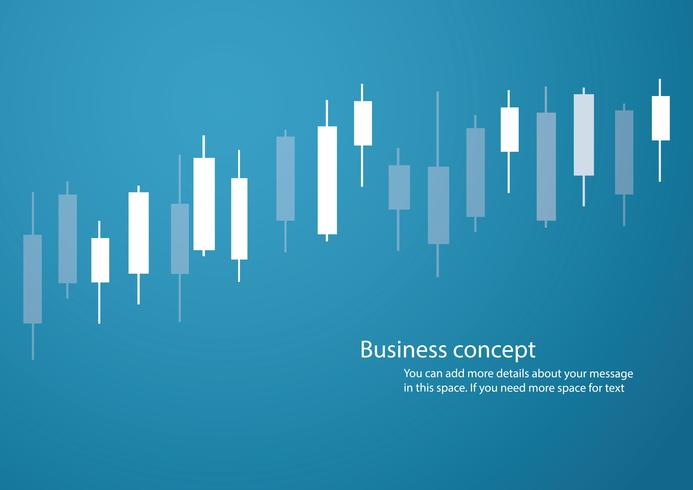 Ljusstake börsen blå bakgrund vektor