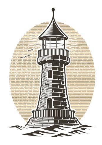 Leuchtturm-Vektor-Illustration vektor