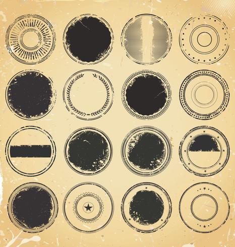 Retro Vintage Abzeichen und Etiketten-Auflistung vektor