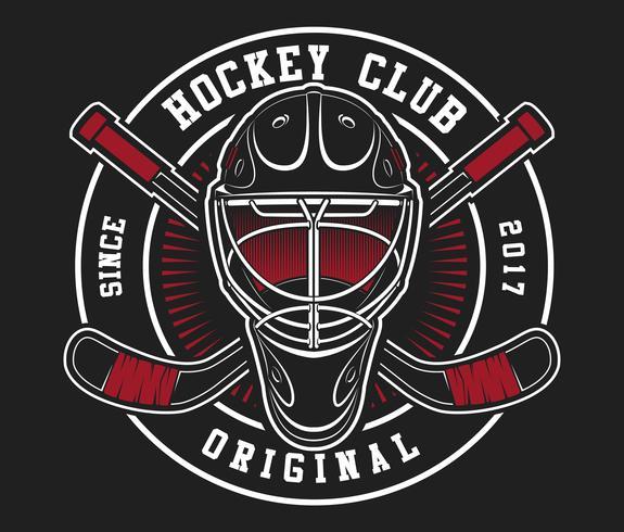 Hockeyhelm mit Stöcken vektor