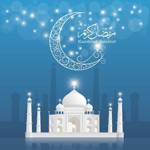 Ramadan Kareem hälsning banner, Ramadan Kareem bakgrund vektor