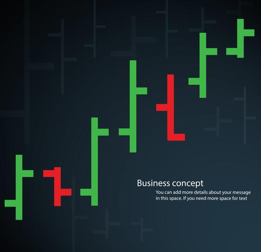 Balkendiagramm Börse Vektor-Illustration vektor