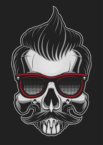 Hipster-skalle vektor