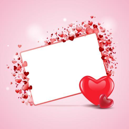 Vackert glad valentins dag kärlekskort. EPS 10 vektor