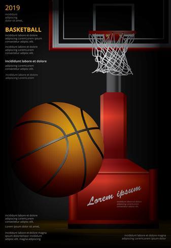 Basketaffisch Reklam Vektor Illustration