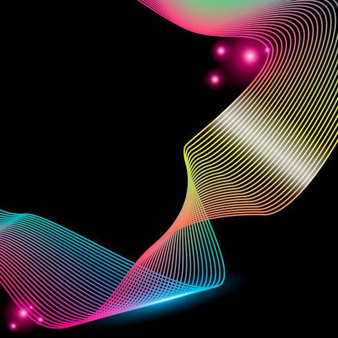 Abstrakt ränder gradient våg linje konst vektor