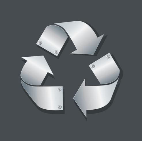 plåt metall återvinna ikon symbol vektor illustration