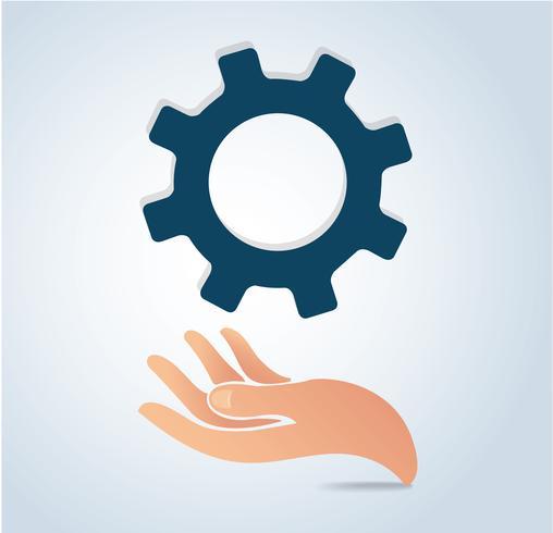 Hand, die Gangdesign-Ikonenvektor hält vektor
