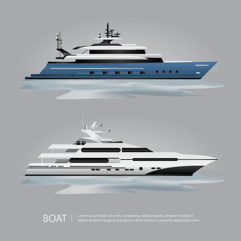 Transportbåt Turistbåt att resa vektorillustration vektor