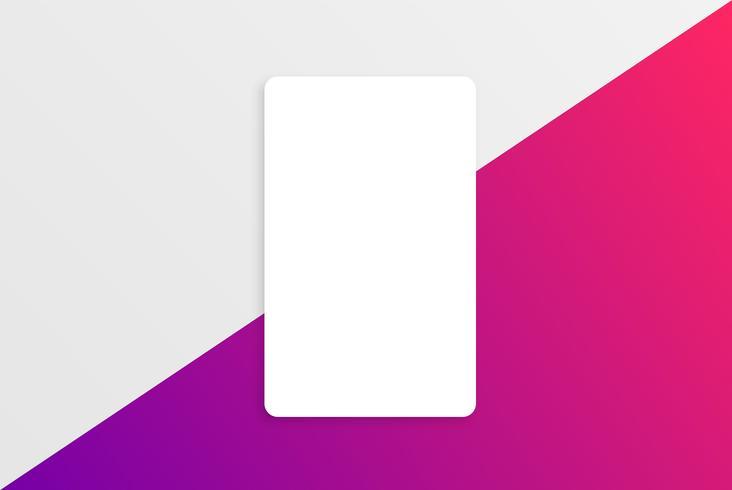 Bunte moderne weiße Kartenschablone mit buntem Design vektor