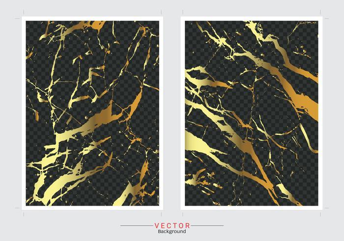 Guld marmor täcke bakgrund. vektor