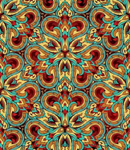 Thai traditionell etnisk konst abstrakt, sömlöst mönster. vektor