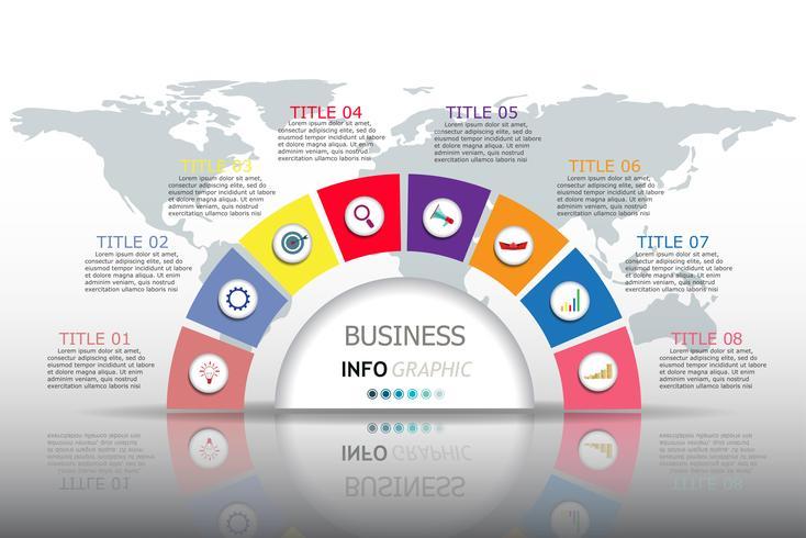 Infografiken Vektor-Design und Marketing-Ikonen vektor