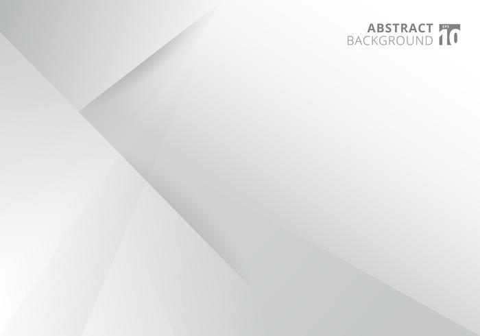 Abstrakt mall vit och grå färg modern bakgrundsdesign. Geometriska trianglar med skugggrafik vektor