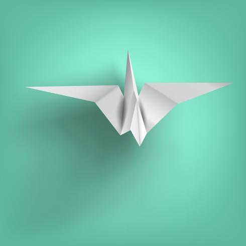 Weisheit auf Vogel Papierfalten vektor