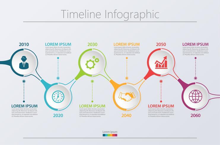 Präsentationsvorlage Geschäft Infographik. vektor