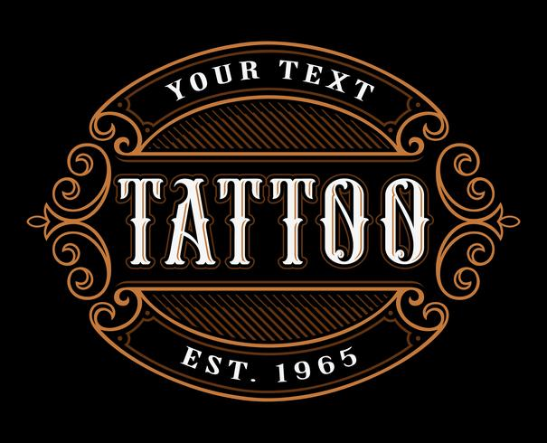 Tattoo-Logo-Vorlage. vektor