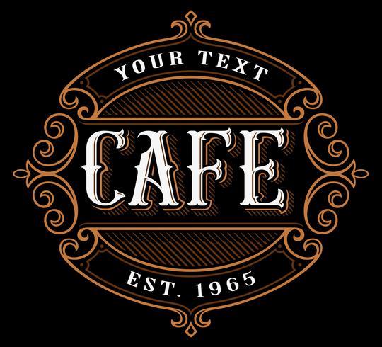 cafe logo design. vektor