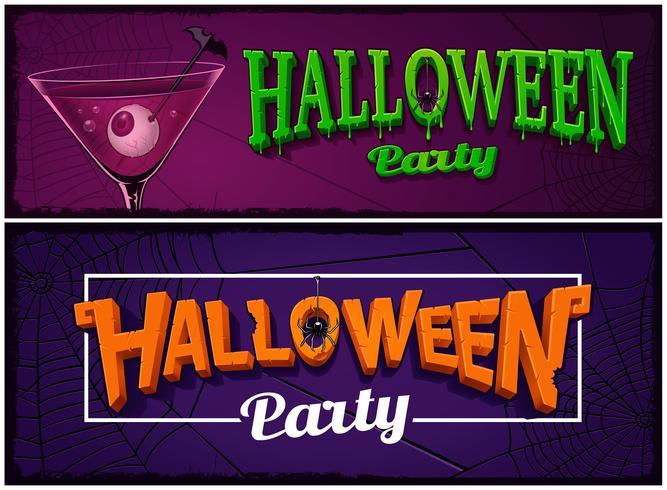 Satz Halloween-Parteifahnen, Designschablonen. vektor