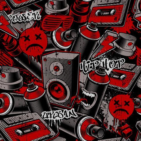 Graffiti sömlöst mönster vektor