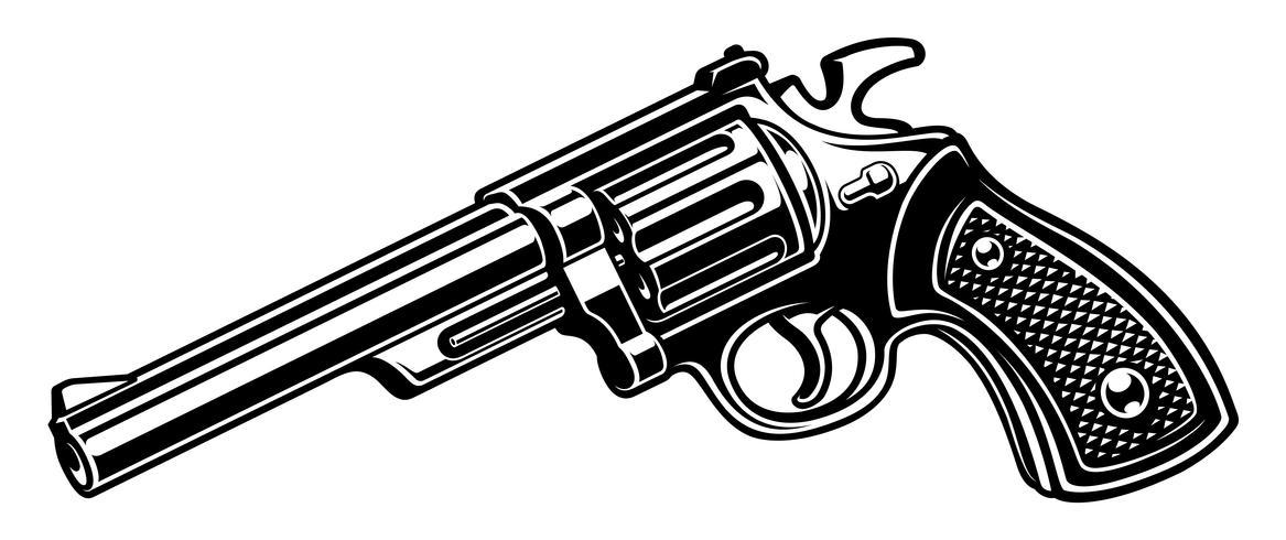 revolvere (monokrom version) vektor