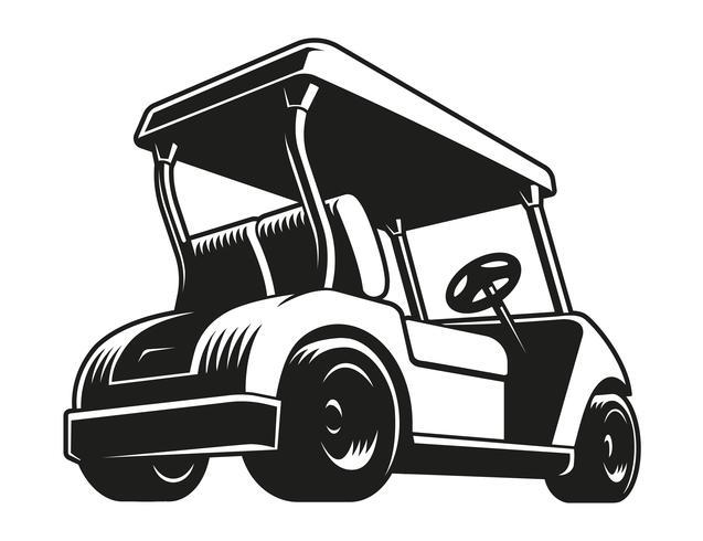 Golfvagn vektor