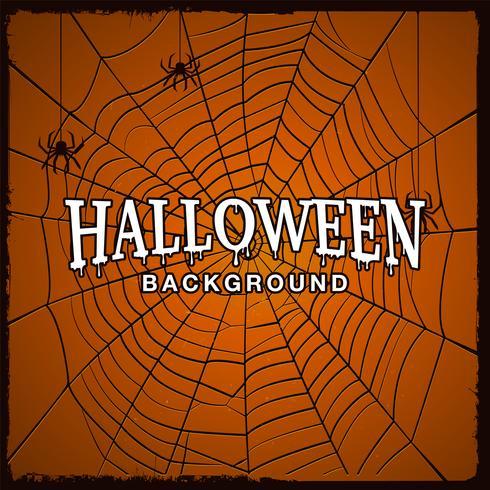 Halloween-Hintergrund mit Netz der Spinne. vektor