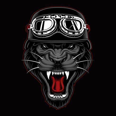 Panther Biker Mascot vektor