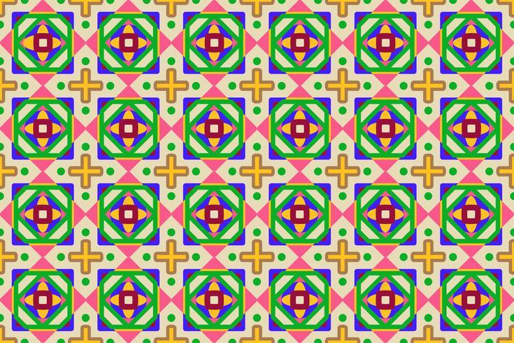 Vektor illustration av abstrakta färgglada geometriska sömlösa mönster bakgrund