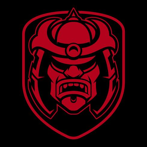 Samurai-Logo-Design. vektor
