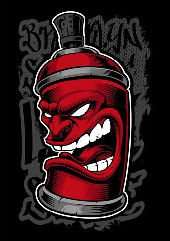 Graffitispray-Monster. vektor