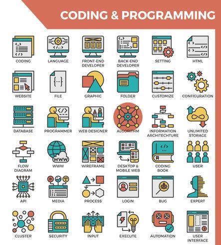 Codierung & Programmierung vektor