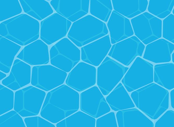 Vector Illustration des blauen Oberflächenhintergrundes des glänzenden Wassers