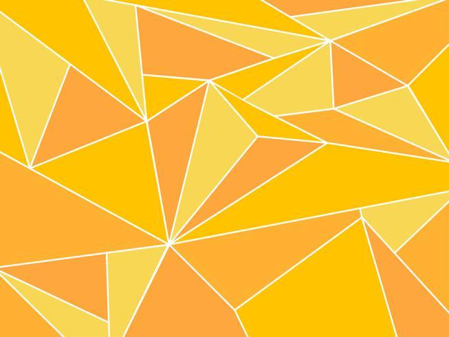 Abstrakt gul polygon konstnärlig geometrisk med vit linje bakgrund vektor