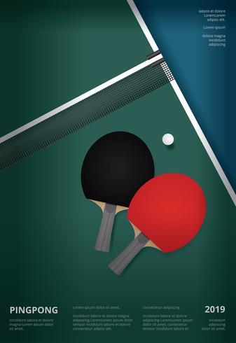 Pingpong affischmall Vektor illustration