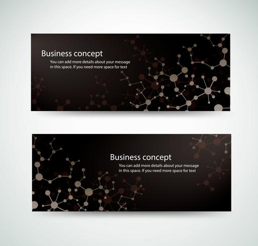set molekyl bakgrund genetiska och kemiska föreningar medicinsk teknik eller vetenskaplig för webbdesigners banner design vektor