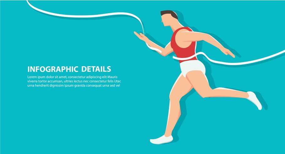 Seitenansicht des laufenden Hintergrundes, gesundheitsbewusstes Konzept vektor