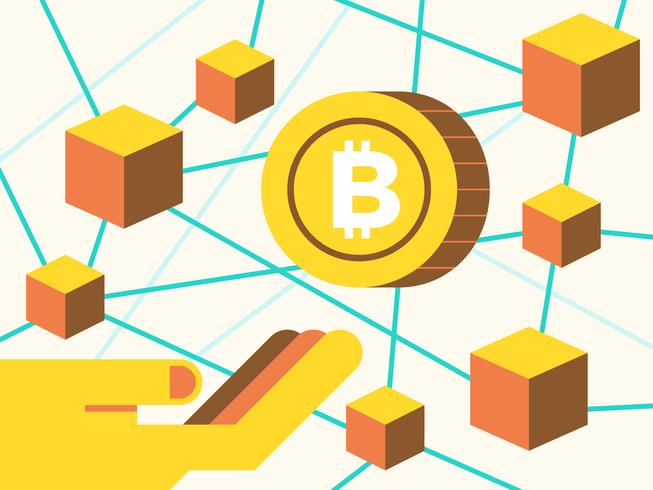 Investeringar på cryptocurrecny koncept vektor