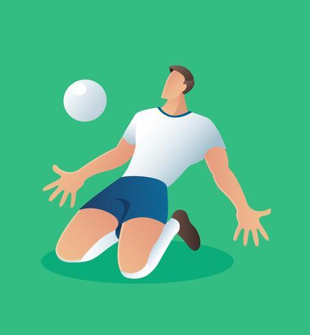 Soccer action spelare, fotbollsspelare vektor illustration