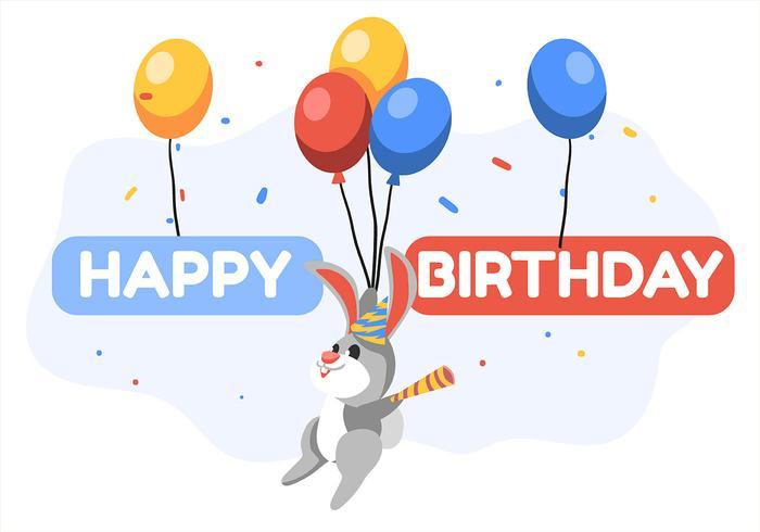 Alles- Gute zum Geburtstagtierkaninchen vektor