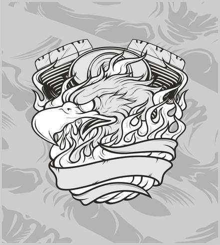 örn med machine.hand ritning, skjortedesigner, biker, diskjockey, gentleman, frisör och många andra .oliverad och enkel att redigera. Vektor illustration - vektor