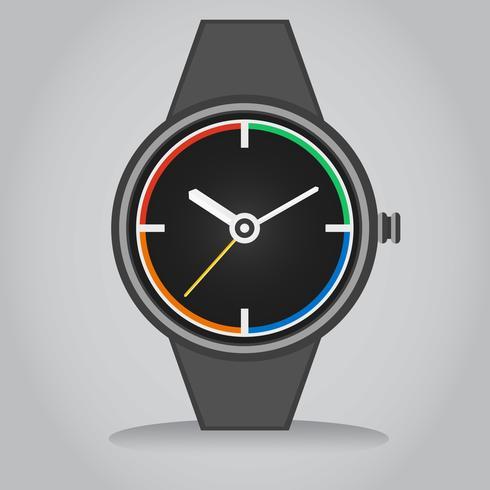 Flacher Vektor Illustration der intelligenten Uhr