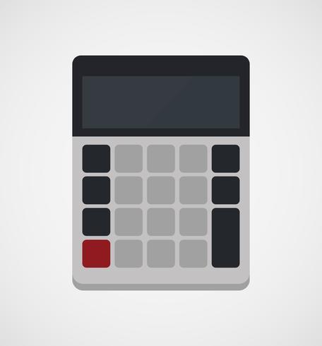 Taschenrechner im flachen Design vektor