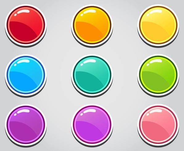 Cartoon-Button-Set-Spiel, GUI-Element für Handyspiel vektor