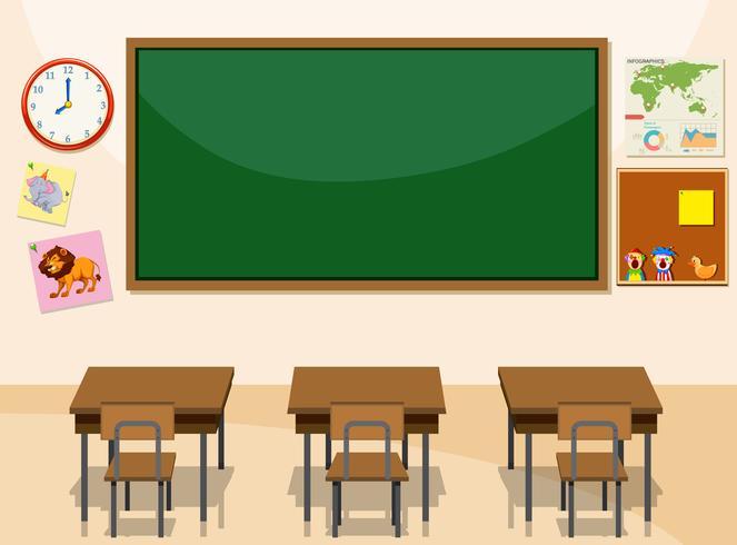 Inredning i ett klassrum vektor