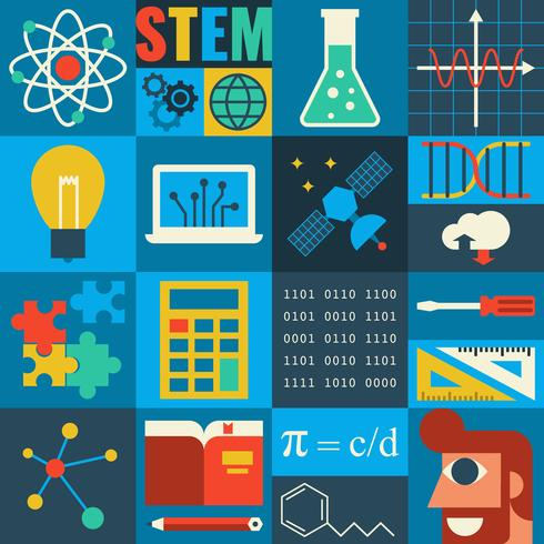 STEM Utbildning vektor