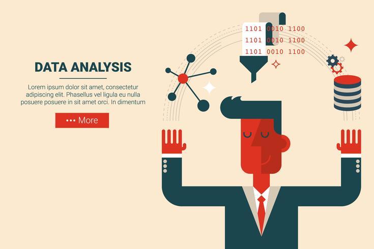 Datenanalyse Forschungskonzept vektor