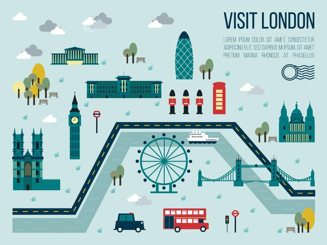 Besök London vektor